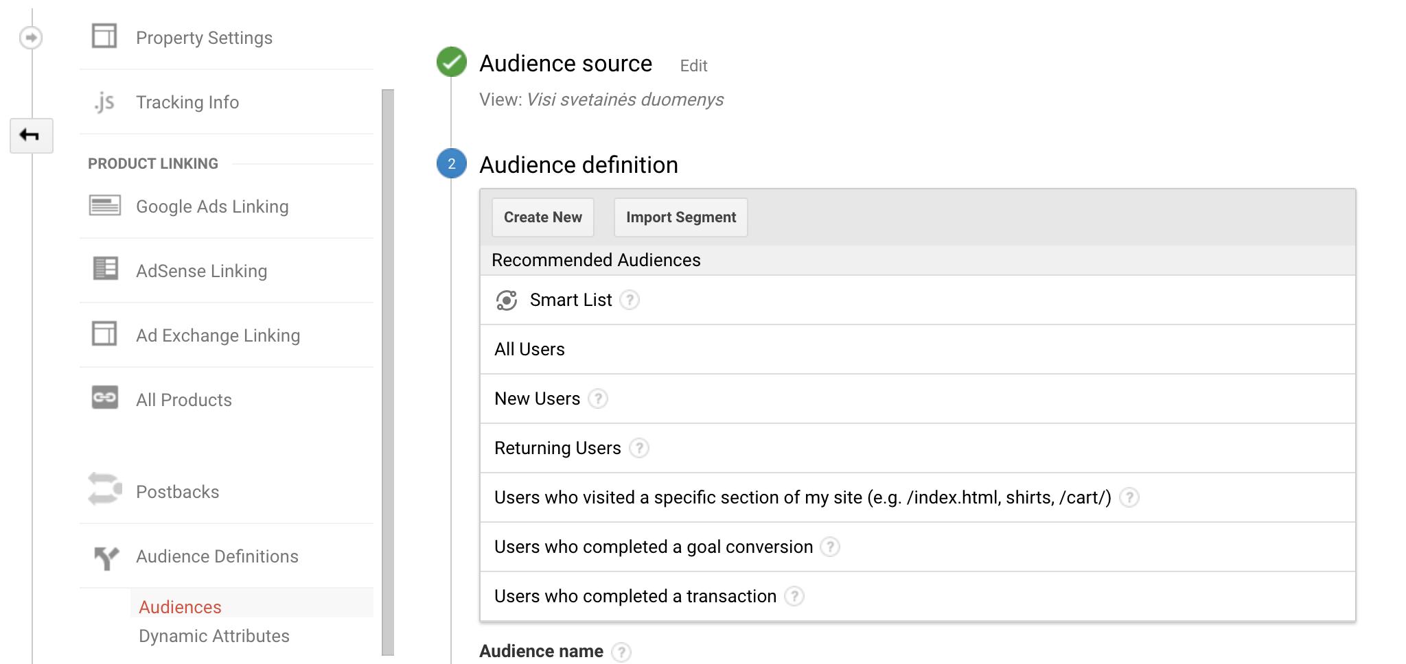 Pakartotinės rinkodaros auditorijos su Google Analytics