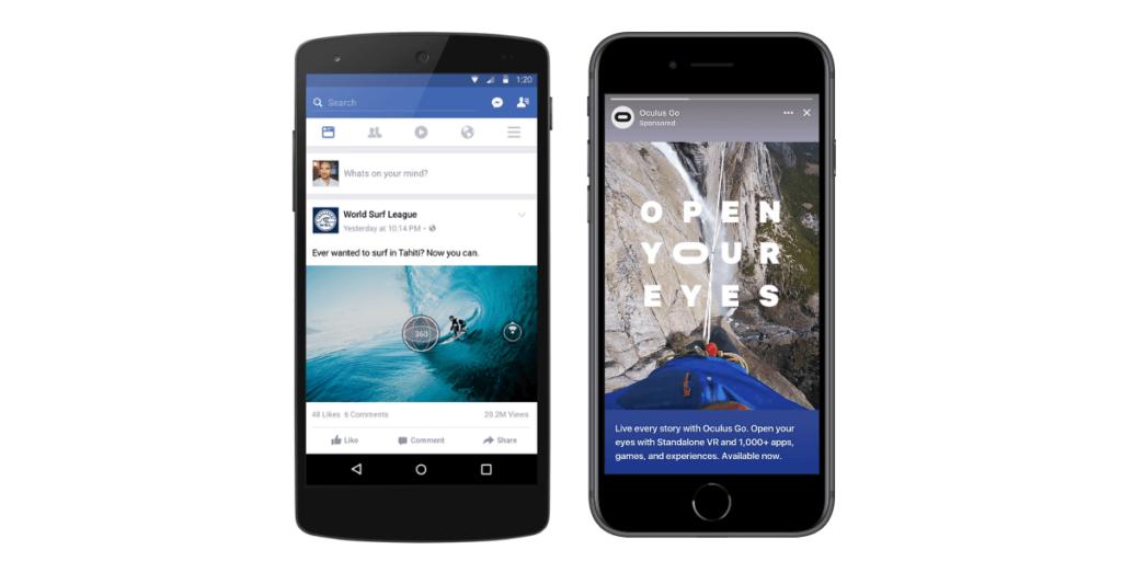 Facebook 360 ir stories turinys