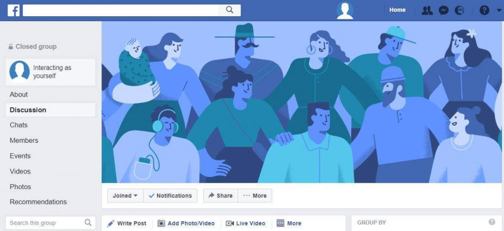 Recommendation skiltis facebook grupėse
