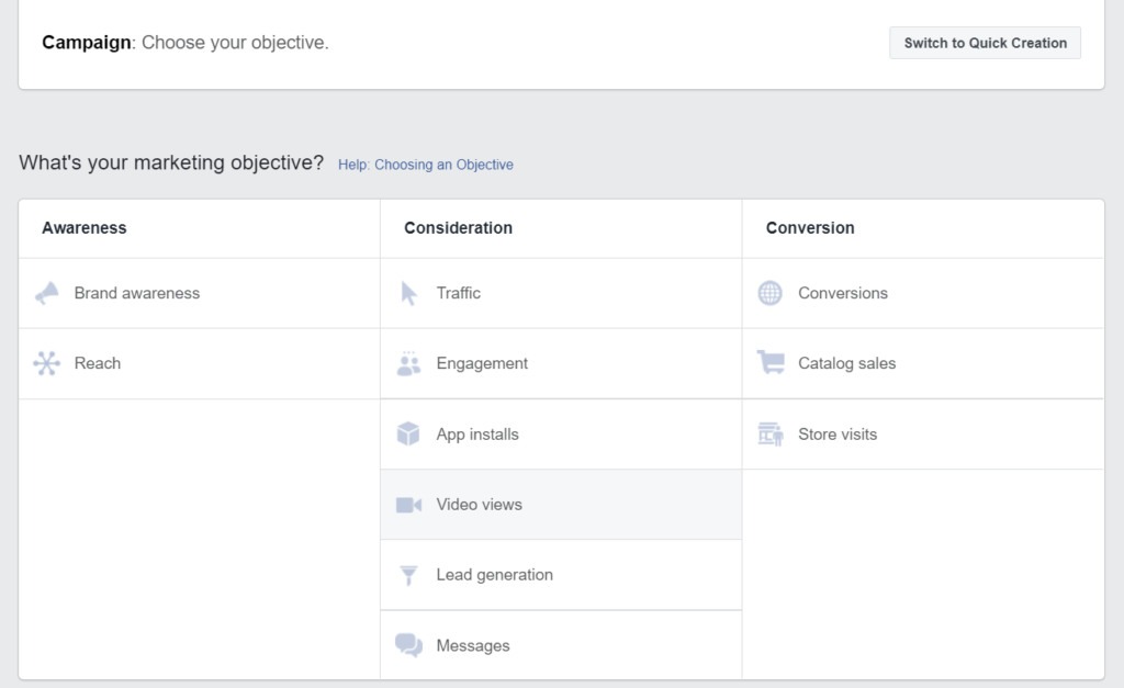 Facebook reklamos kampanijos tikslas
