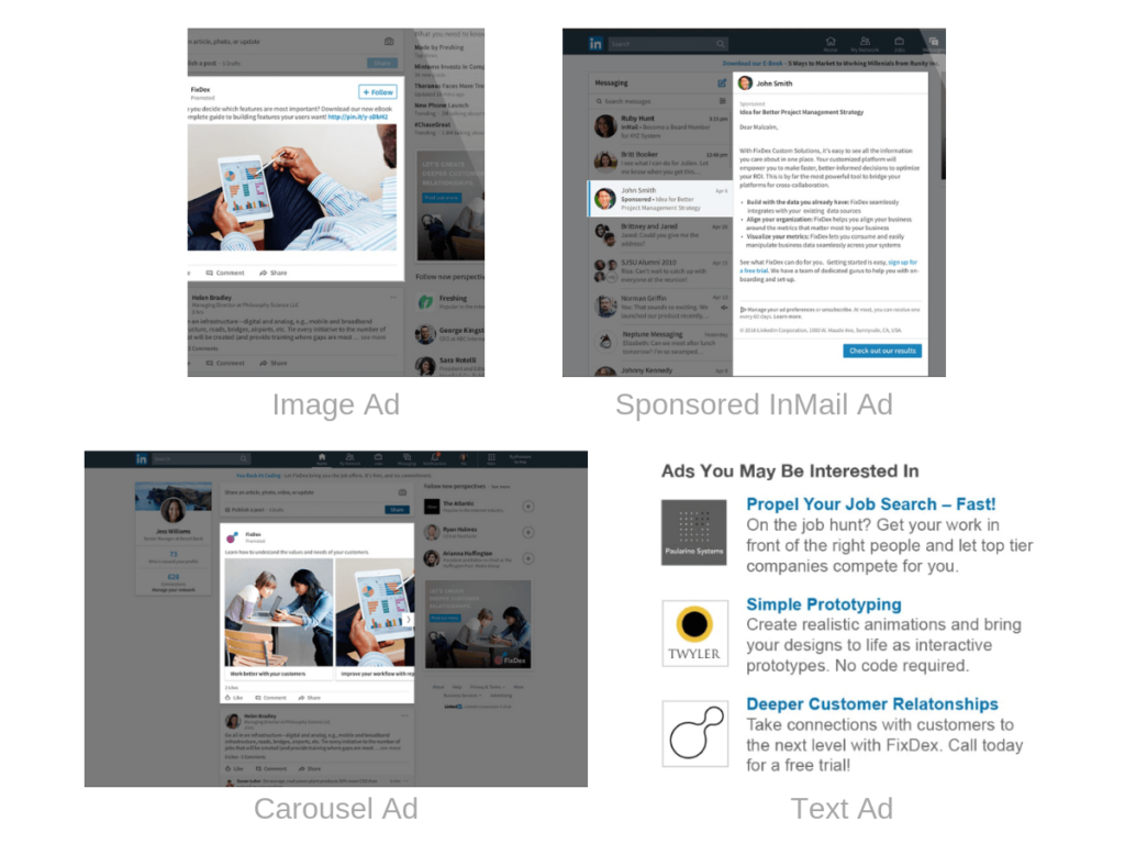 LinkedIn Reklamos formos