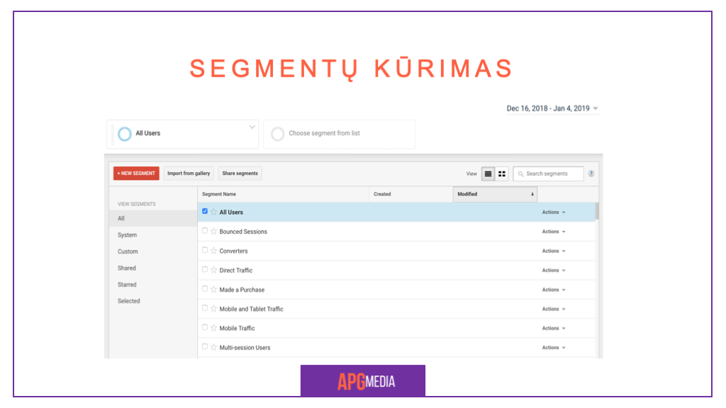 Google Analytics Segmentai 8